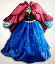 "DISNEY STORE AUTHENTIC FROZEN ""PRINCESS"" ANNA COSTUME DRESS w/ CAPE - SIZE 7/8"