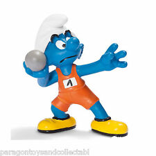 SCHLEICH SMURFS OLYMPIC SPORTS - 20742 - Shotputter Smurf Figure - Retired