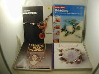 Beading Jewelry Bead Weaving 4 Books Advanced Beadwork Crystals Charms