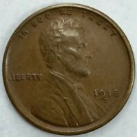 XF/AU 1918 - S - US Lincoln Wheat Cent (Q327)