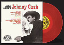 JOHNNY CASH LP Now Here's Johnny Cash RED Vinyl REMASTERED Sun 500 Only SEALED