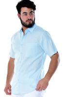 Mens Bohio Mint Linen Casual Short Sleeve (1) Pocket Shirt (S~ 2XL) - MLS3104