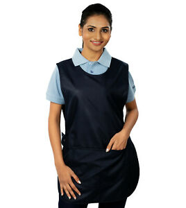Ashdan M136 Budget Tabard. Economy. Catering,Cleaning, Janitorial. Black & Navy