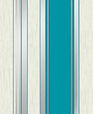Vymura By Crown Synergy Stripe Teal Glitter Wallpaper (M0801)