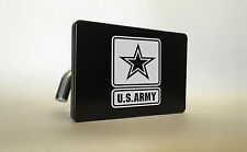U.S. ARMY Billet ALUMINUM Trailer Tow Hitch Cover SUV Truck RV BLACK