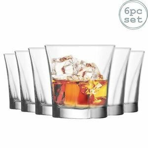 6x Truva Whisky Glasses Set Glass Whiskey Drinking Tumbler Tumblers 280ml