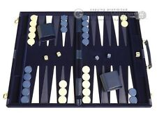 15-inch Deluxe Backgammon Set - Blue - NEW | Classic Board Games