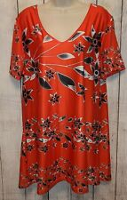 Lily by Firmiana Stretchy Tunic Blouse Top Shirt Size XL Multicolor