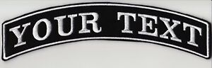 """LARGE CUSTOM BACK ROCKER RIBBON PATCHES 11 1/2"""" PERSONALISED BIKER SCOOTER CLUB"""