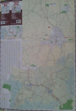 Grants Pass Ashland Medford 27 x 39 Laminated Wall Map (G)