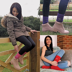 THMO - 1 Pair Ladies Thick Winter Warm Soft Top Thermal Socks