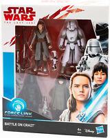 Hasbro E0321 Star Wars The last Jedi Force Link Battle on Crait Figuren NEU/OVP