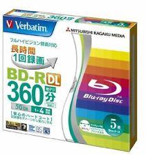 5x Verbatim Blu-ray Discs - 50GB 4X BD-R DL Recordable - Printable