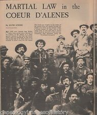 Martial Law in the Coeur D'Alenes+Bunker Hill and Sullivan Mines,Hutton,Collins