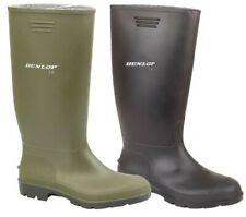 Hombre y Mujer Dunlop Botas de Agua Hombre Wellies Mujer Lluvia Zapatos