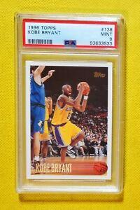 Kobe Bryant 1996-97 Topps #138 Lakers RC Rookie HOF PSA 9 MINT centered