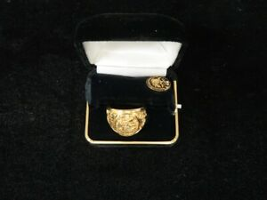 North American Hunting Club Men's Ring Pin Gold Filled Official Member Box