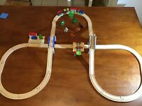 Wooden Train Track Set