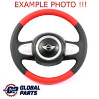 BMW Mini Cooper One R56 R60 Neuf Volant Noir/Rouge Cuir 2 Rayons