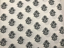 4Pc Full Size Cotton Sheet Set Black And White Foral By Designer Collection Nip