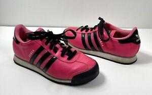 Adidas Women's Shoes, Samoa Hot Solar Pink and Black Size 6 1/2 Rare Pink Adidas