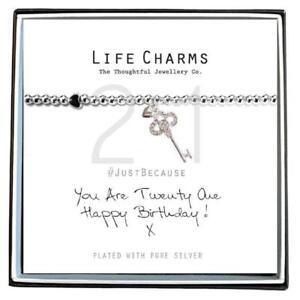 Life Charms 21st Birthday Bracelet