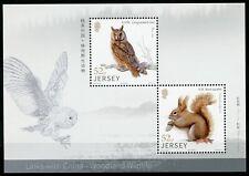Jersey Stamps 2019 MNH Woodland Wildlife Squirrels Birds Owls Animals 2v M/S