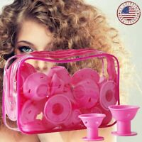 30PCS Magic Hair Curlers Rollers Silicone No Clip Formers Styling Curling Tool