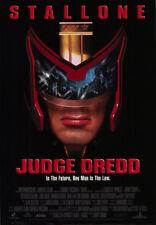 JUDGE DREDD MOVIE POSTER 2 Sided ORIGINAL FINAL VF 27x40 SYLVESTER STALLONE