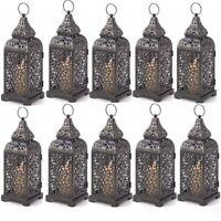 10 Lot Romantic Moroccan Style Tower Pillar Candle Lanterns Wedding Lamp New