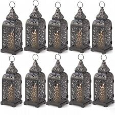 10 Lot Romantic Moroccan Style Tower Pillar Candle Lanterns Wedding Lamp New