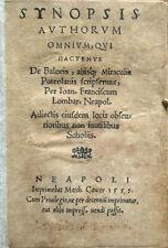 1559 – LOMBARDI, DE BALNEIS PUTEOLANIS – POZZUOLI ACQUE TERMALI NAPOLI CAMPANIA