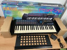 Boxed Yamaha Portatone PSR-76 Keyboard Tested & Working With Power Supply