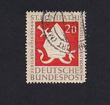 Germany Stamps 1954 St. Bonifatuis 20 Pfg (E3) Current Value 7.30