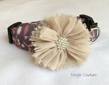 Winter Whispers Dog Collar With Bow Size XS-L by Doogie Couture