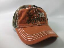 Primos 76 Hat Orange Camo Hook Loop Baseball Cap
