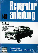 Buch Reparaturanleitung NSU Prinz 1000 L / S / C 110 S / SC 1200 C TT TTS Bd 148