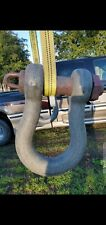 75 Ton D ring shackles clevis. Threaded Pin. Crosby brand. Used. USA made.