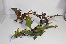 Mega Blocks Bloks Dragon lot of 3  from Krystal Wars Marauders green and  other