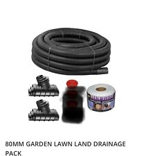 80mm Lawn Land Drainage Pack