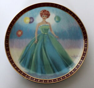 Danbury Mint 1963 Barbie Senior Prom  Collector Plate Limited & Numbered