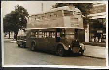 Photograph ~ Chiswick Brentford UK ~ Double Decker Bus & Truck ~ Blank Back RPPC