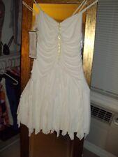 Sexy Ivory Cocktail Spaghetti Strap/Halter Evening Dress size 14