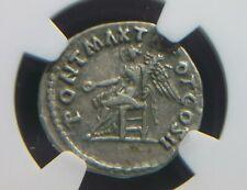 Silver Denarius Roman Emperor Trajan, Victory seated Reverse NGC VF 7227