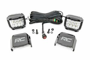 """Rough Country 3"""" Wide Angle LED Pod Lights Universal Fit Panoramic Flood Pair"""