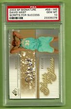 2003 SP Signature David West scripts for success #/250 AUTO RC PSA 10 Gem Mint