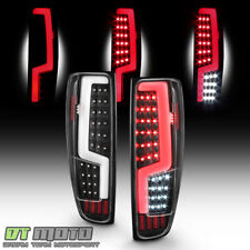 Black 2004-2012 Chevy Colorado Gmc Canyon Led Light Tube Tail Lights Brake Lamps (Fits: Isuzu)