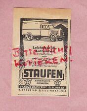 EISLINGEN, Werbung 1950, Fahrzeugwerke R. Rayer KG Staufen Anhänger Leichtmetall