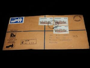 Vintage Cover,HARARE, ZIMBABWE, REGISTERED,1994,To Slependen,Norway,Customs Form