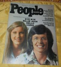 February 3, 1975 People Weekly Magazine-Tennis Stars Chris Evert and Billie Jean